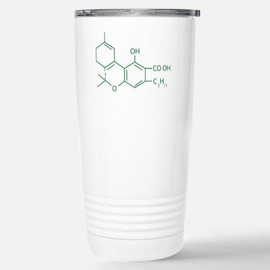 THC Molecule Stainless Steel Travel Mug