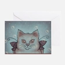 Bubble Cat Greeting Card