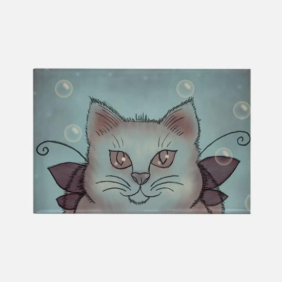 Bubble Cat Rectangle Magnet