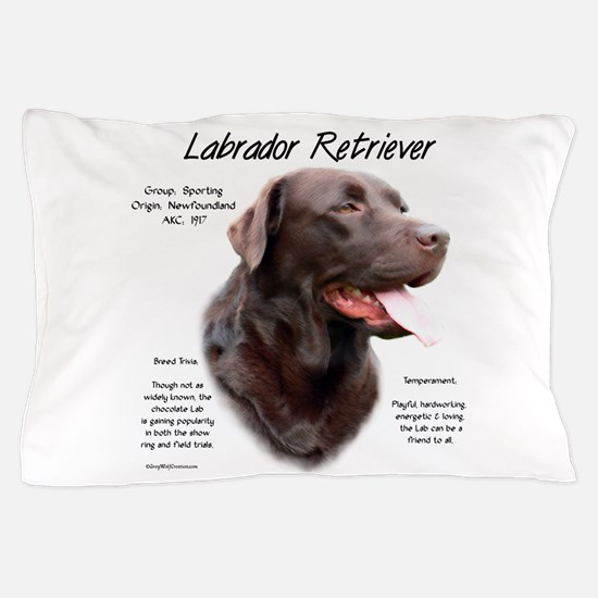 Chocolate Lab Pillow Case