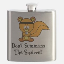 Funny Fighting Squirrrel Flask
