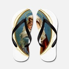 MARY AND JESUS Flip Flops