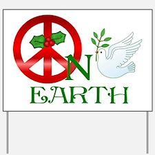 Peace on Earth Yard Sign