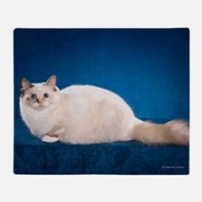 Birman Cat Calendar Throw Blanket