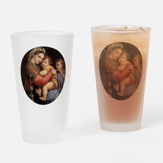 Madonna della seggiola - Raphael Drinking Glass