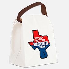 Texas Balls Bigger Here Canvas Lunch Bag