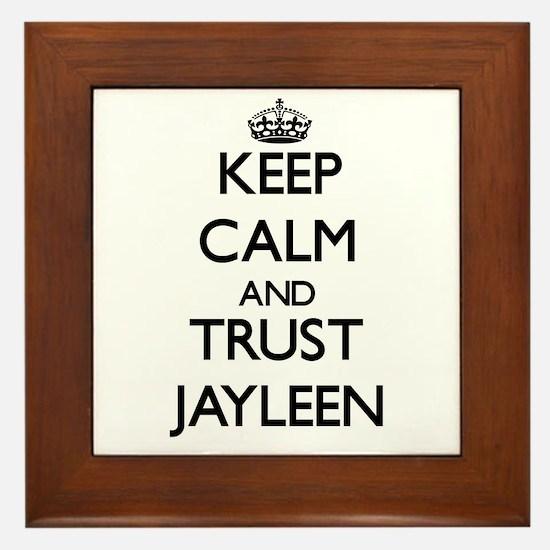 Keep Calm and trust Jayleen Framed Tile