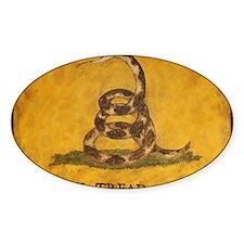 www.aliesfolkart.com Gadsden Flag Decal