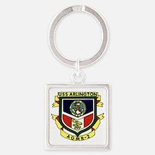 uss arlington patch transaparent Square Keychain
