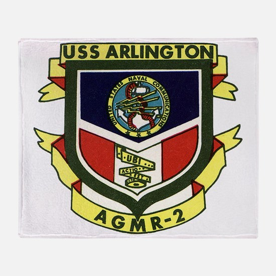 uss arlington patch transaparent Throw Blanket