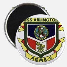 uss arlington patch transaparent Magnet