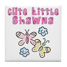 Cute Little Shawna Tile Coaster