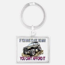 You Cant afford it Landscape Keychain