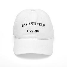 uss antietam cvs black letters Baseball Cap