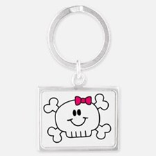 smiley_baby_pink Landscape Keychain