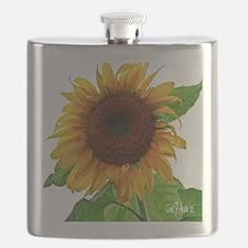 Sunflower in Full Bloom Flask