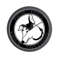 Real Dogs Have Tattoos Wall Clock