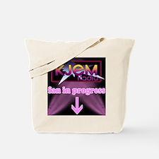 KJEM Radio fan in progress pink Tote Bag