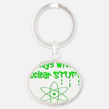Nuclear Stuff Oval Keychain