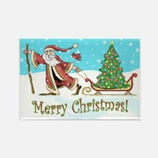 Santas Tree Rectangle Magnet