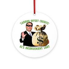 Al's Inconvenient Loot Ornament (Round)