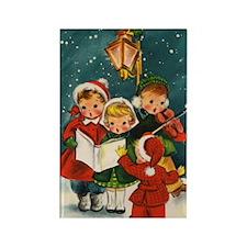 Vintage Christmas children Rectangle Magnet