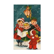 Vintage Christmas children Decal