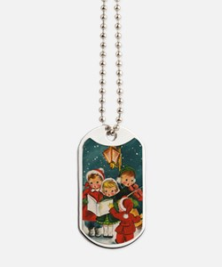 Vintage Christmas children Dog Tags