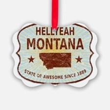 Hellyeah Montana Picture Ornament