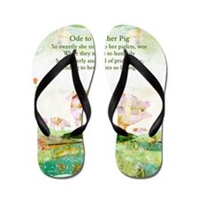 Ode to Mother Pig Flip Flops