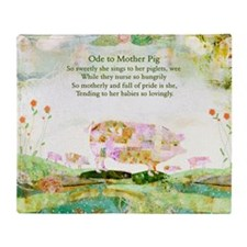 Ode to Mother Pig Throw Blanket