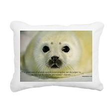 Protect Harp Seals Rectangular Canvas Pillow