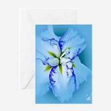 Iris in Blue Mist Greeting Card