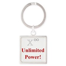 Unlimited Power! (W) Square Keychain