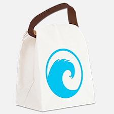 Ocean Wave Design Canvas Lunch Bag