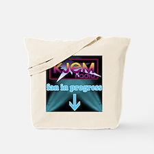 KJEM Radio fan in progress blue Tote Bag