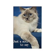Birman Cat Note Card Rectangle Magnet