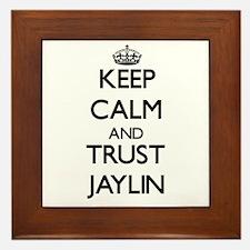Keep Calm and trust Jaylin Framed Tile