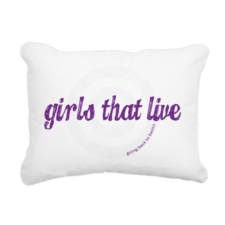 Girls That Live logo for Rectangular Canvas Pillow