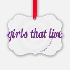 Girls That Live logo for dark col Ornament