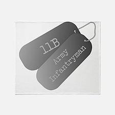 11B infantryman Throw Blanket