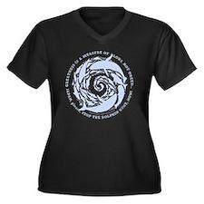 Kai Palaoa s Women's Plus Size Dark V-Neck T-Shirt