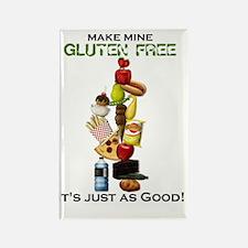 Make Mine Gluten Free - light Rectangle Magnet