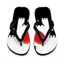 I LOVE CASTLE Flip Flops