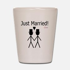 Just Married Gay Marriage Shot Glass