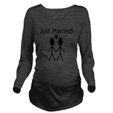 Just Married Gay Mar Long Sleeve Maternity T-Shirt