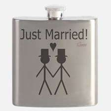 Just Married Gay Marriage Flask