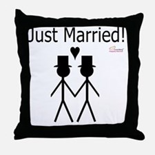 Just Married Gay Marriage Throw Pillow