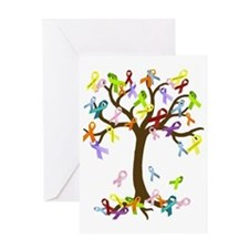Ribbon Tree Greeting Card