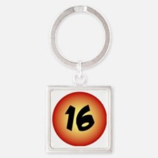 16th Birthday Pin for Guys Square Keychain